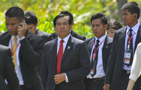El primer ministro de Myanmar durante la cumbre de Phuket | REUTERS