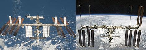 En la primera imagen la ISS y el Endeavour empiezan a separarse; en la segunda, tras la separación aparece solo la ISS. | Ap/NASA y Reuters/NASA