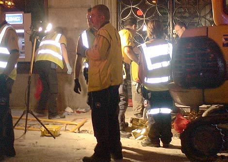 Imagen del lugar donde se halló al joven apuñalado. | Emergencias Madrid
