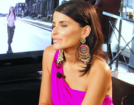 La cantante, durante la entrevista. | M. V.