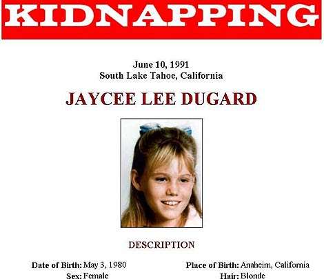 Cartel del FBI del secuestro de la joven, en 1991. | Efe