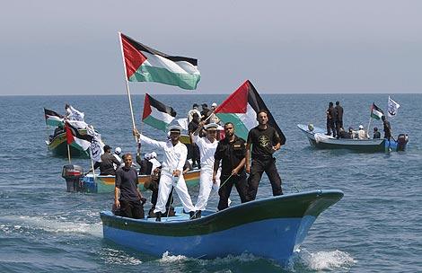 Imagen de los preparativos para la llegada de la flotilla, antes del ataque. | Afp