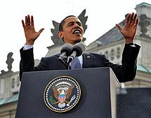 Barack Obama en Praga. | Afp
