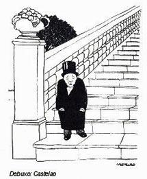 Caricatura de su marido que hizo Castelao.