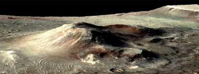 Cono volcánico en la caldera Nili Patera de Marte.|NASA