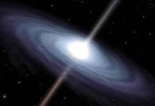 Recreación de un agujero negro.
