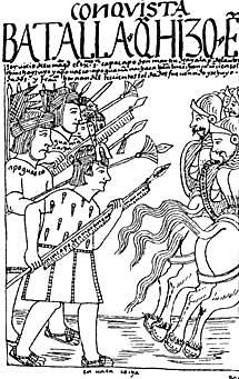 Soldados nativos contra españoles.