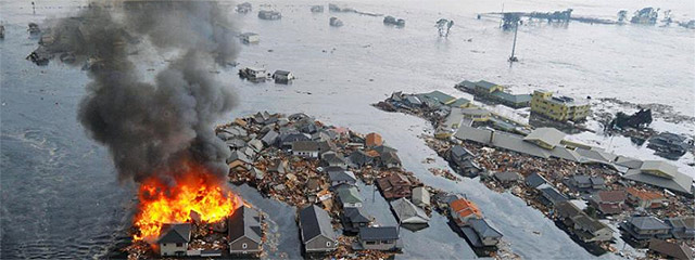 Imagen de la destrucción causada por el tsunami en la localidad de Sendai | AP VEA MÁS FOTOS