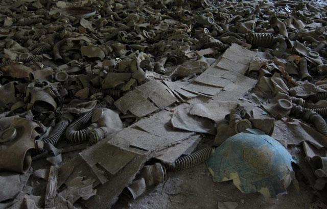 Máscaras anti-gas en Chernobil.   Quico Alsedo