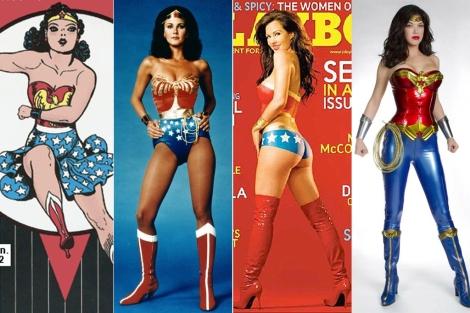 Wonder Woman, en los años 40, 70, 2000 y en 2011.