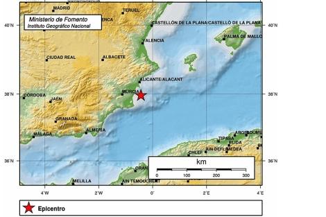 Mapa de intensidad sísmica del Instituto Geográfico Nacional. | E.M.