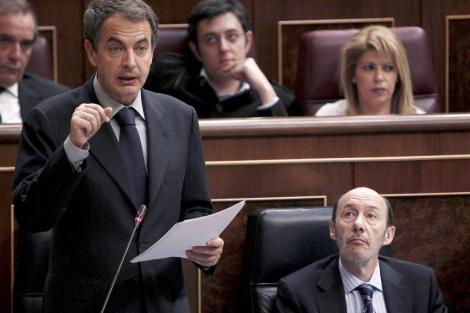 Jose Luis Rodríguez Zapatero durante la sesión de control al Gobierno. | Efe