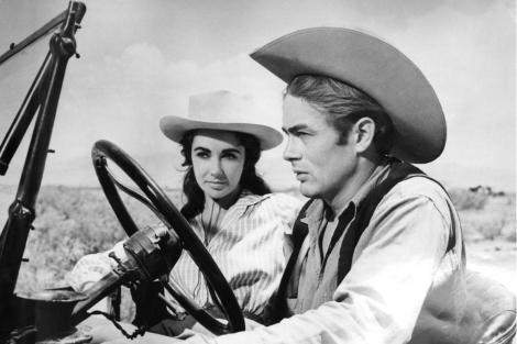 James Dean y Elizabeth Taylor, en 'Gigante'. | Reuters