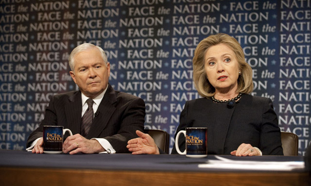 Robert Gates y Hillary Clinton.   AP