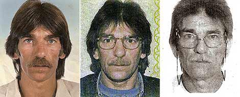 Miguel Francisco Montes Neiro, en tres momentos de su vida, desde que entró en la cárcel en 1976 hasta nuestros días. | EL MUNDO