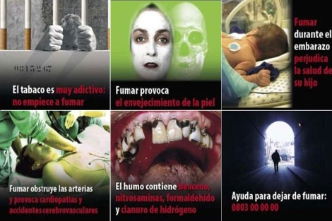 Algunas de las imgenes utilizadas en la campaa