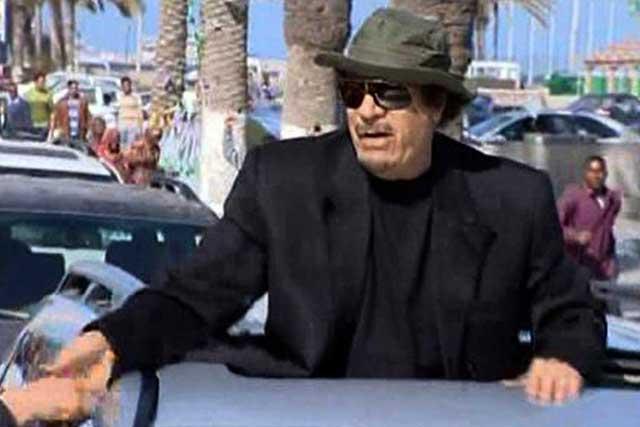 Imagen de la televisión estatal libia de Gadafi, ayer, en Trípoli.| Efe