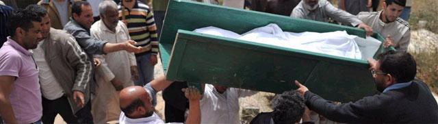 Entierro de uno de los fallecidos en los ataques de Misrata. | Afp