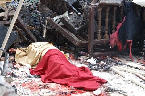 Imagen de una de las víctimas del atentado. | Afp
