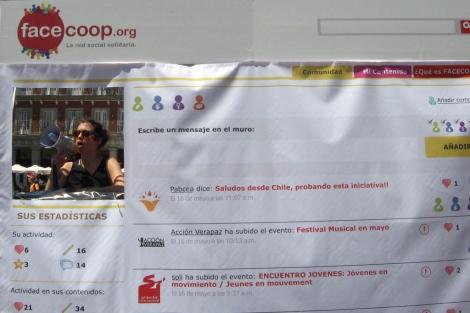 Presentación de Facecoop en la Plaza Mayor de Madrid.| Solidaridad Internacional