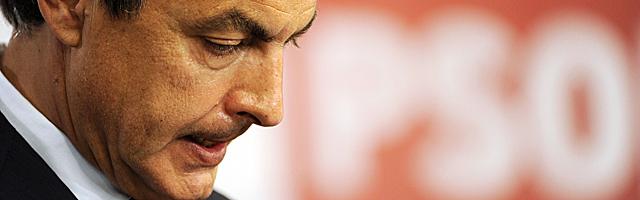 José Luis Rodríguez Zapatero, durante su comparecencia tras conocer los resultados. | Afp