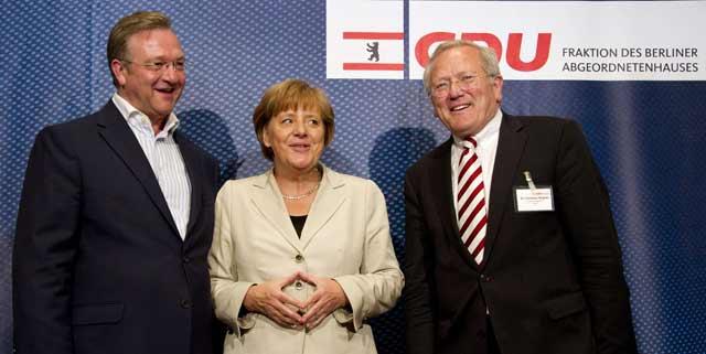 Merkel antes de que se iniciara la reunión. | Afp