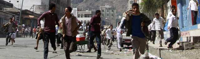 Protestas antigubernamentales en Taiz. | Reuters