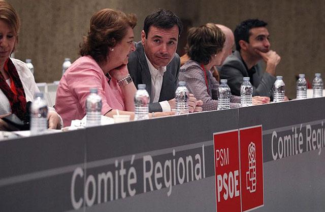 Gómez, durante la reunión del Comité Regional del PSM. | Javier Barbancho