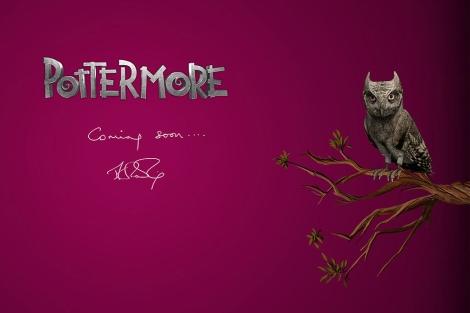 Imagen del sitio web que anuncia al próximo proyecto de Rowling.