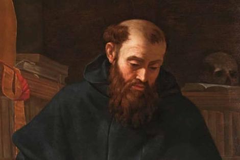 Un fragmento del 'San Agustín' de Caravaggio.