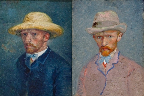 A la izda, el 'falso autorretrato', identificado ahora como Theo. A la dcha, Vincent. | AP