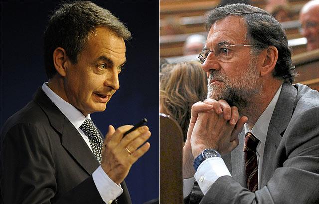 José Luis Rodríguez Zapatero y Mariano Rajoy. | AP / Reuters