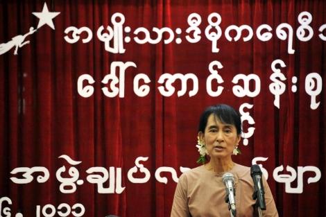 La opositora y activista birmana, Aung San Suu Kyi. | Afp