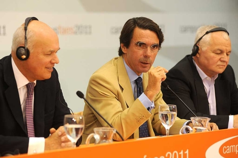 Aznar, en la presentacin del Campus de Verano de la fundacin que preside.  Faes