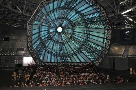 Imagen de la orquesta en el 'Madrid Arena'. | Efe