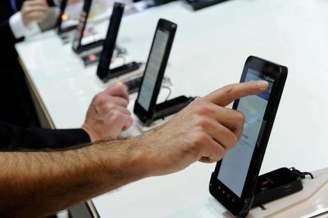 Samsung Galaxy Tab expuestos en el CES. | Afp