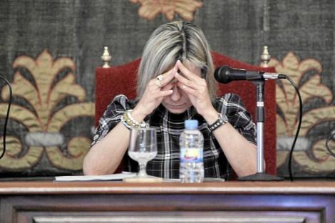 La alcaldesa de Alicante, Sonia Castedo, durante un pleno. | Ernesto Caparrós