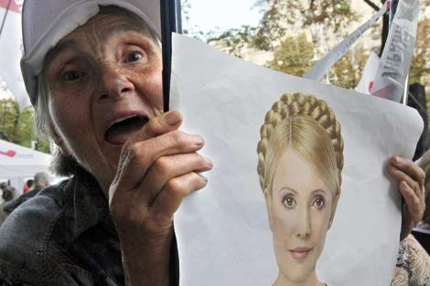 Una simpatizante de la ex primera ministra ucraniana Yulia Timoshenko. | AP