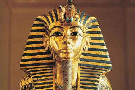 La máscara funeraria de Tutankamón.