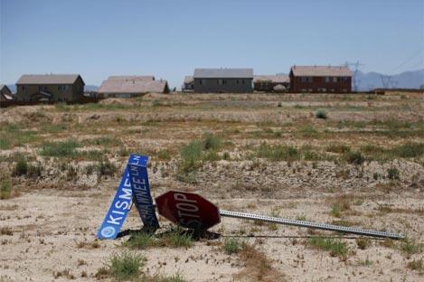 Imagen del pueblo de Victorville, en California, tras la crisis de las hipotecas 'subprime' | AP