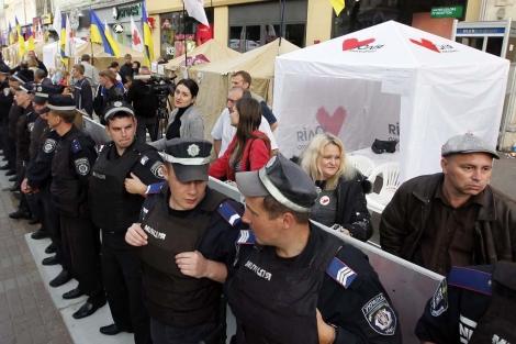 Manifestantes piden la liberación de la ex dirigente ucraniana. | Efe