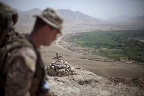 Un memorial dejado por los británicos en Afganistán. | Ap