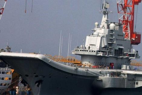 Imagen del portaaviones chino.| afp