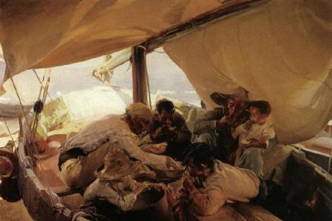 'Comiendo en la barca', de Joaquín Sorolla.