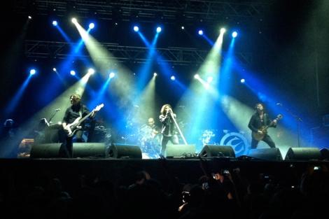 La banda sueca, durante su actuaci?n en Ordes. | Miguel R. Penas
