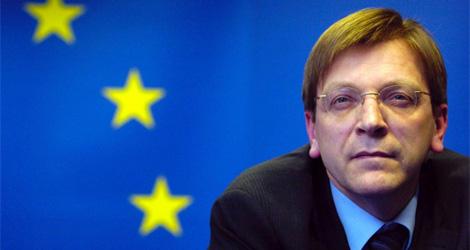 El belga Guy Verhofstadt, líder de los liberales europeos. | Afp