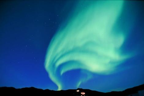 Auroras boreales captadas desde el sur de Groenlandia. Tierra y estrellas.com