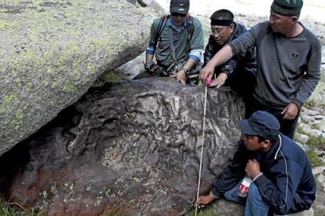 Meteorito caído en China el año pasado.|EL MUNDO