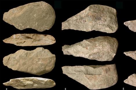 Varias de las herramientas de piedra de hace 1,7 millones de años.|'Nature'