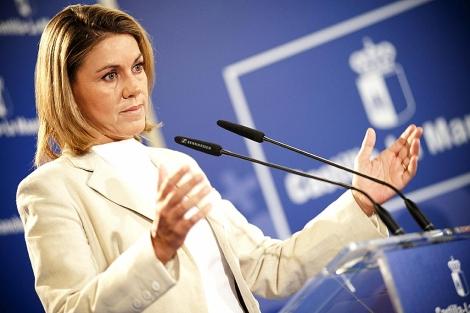 La presidenta de Castilla-La Mancha, María Dolores de Cospedal. | Efe/ Ismael Herrero